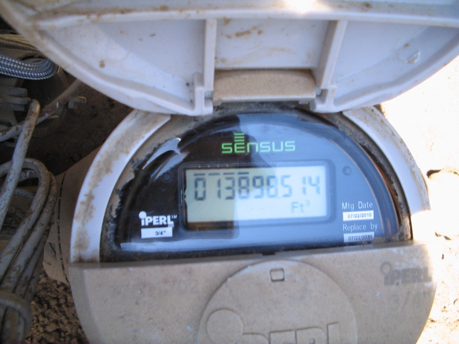 Digital Water Meter Reading : How to read your water meter poway ca official website