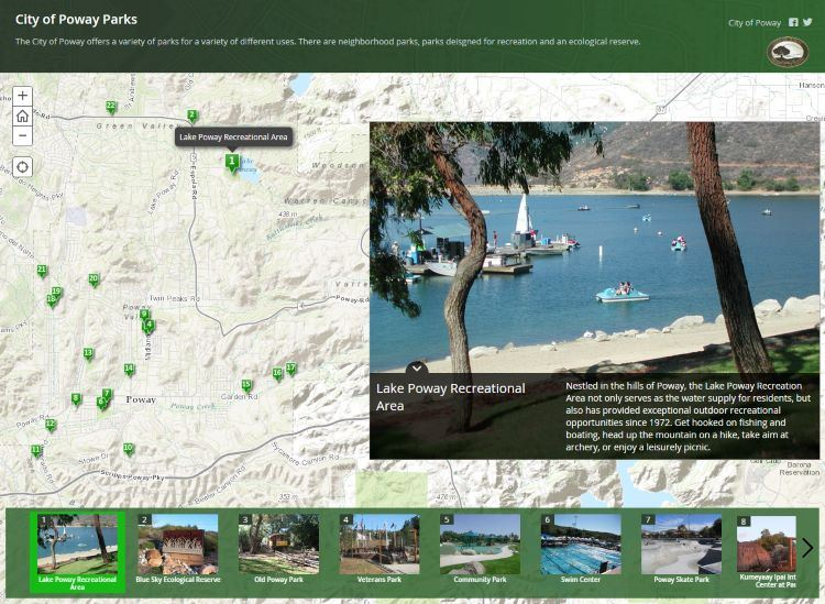 City Of Poway Parks Map Tour
