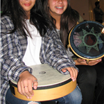 Girls Playing Drums at PCPA