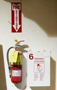 Fire Extinguisher and Sign