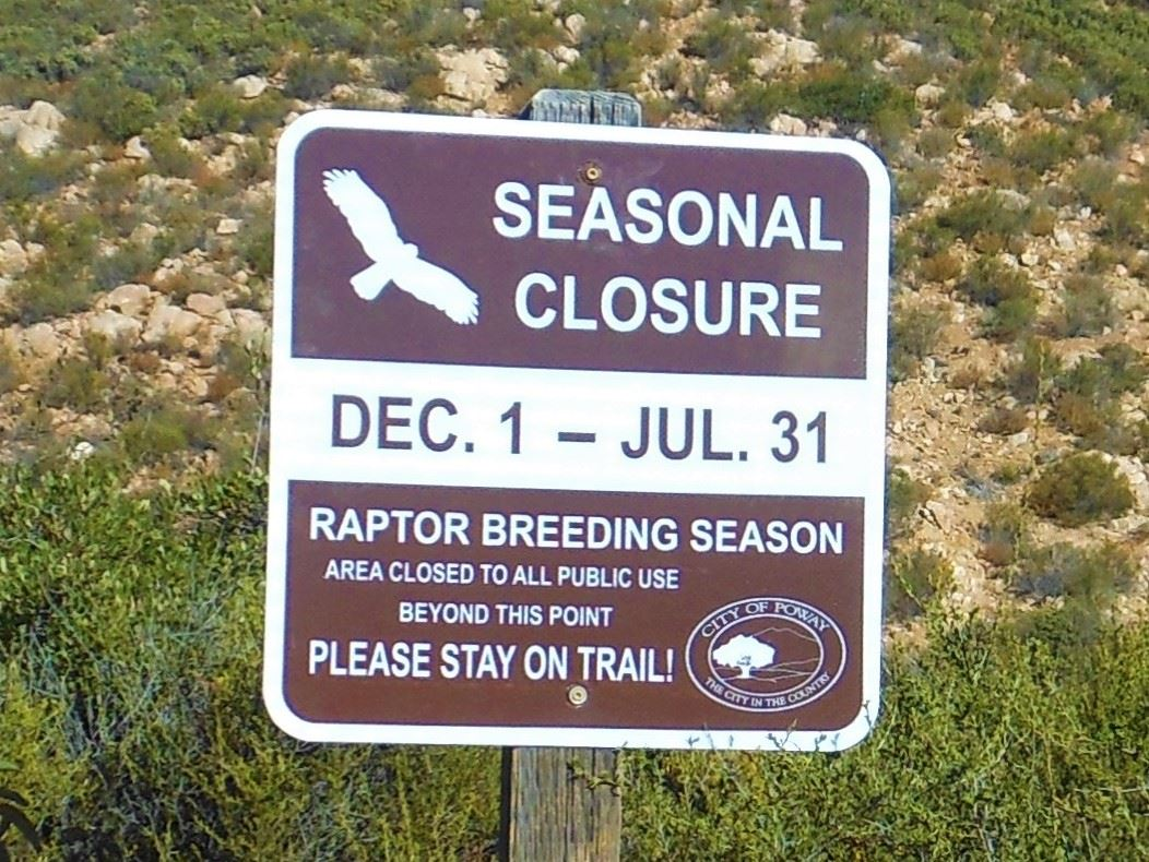 Raptor Breeding Sign