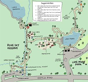 Blue Sky Suggested Hikes Map