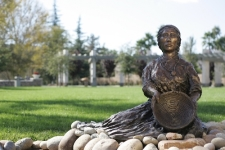 Sculpture - Settling Woman